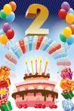 Segundo cumpleaños Fotos de archivo libres de regalías