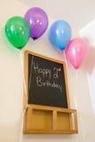 Segundo cumpleaños feliz Fotografía de archivo