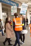 Segundo día de la huelga Fotos de archivo libres de regalías
