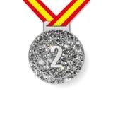 Segundo medalhista de prata do lugar Fotografia de Stock