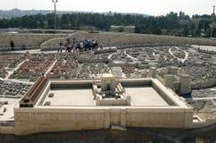 Segundo modelo do templo, Jerusalem Imagens de Stock