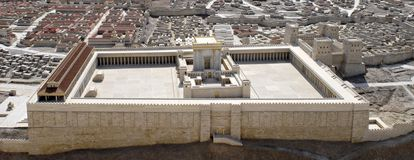 Segundo templo de Jerusalén   imagen de archivo libre de regalías