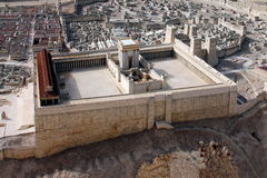 Segundo templo. Jerusalén antigua foto de archivo libre de regalías