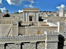Segundo templo. Jerusalén antigua Fotografía de archivo libre de regalías