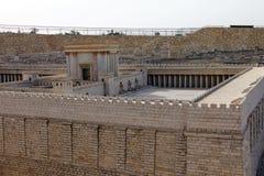 Segundo templo. Modelo de la Jerusalén antigua. Fotos de archivo