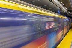 Segundo tren colorido de la avenida Imágenes de archivo libres de regalías