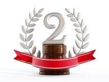 Segundo troféu premiado ilustração stock