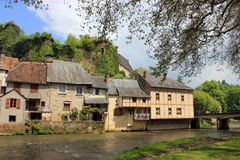 Segur-le-Chateau, Correze. Segur-le-Chateau: one of the most beautiful villages of France Royalty Free Stock Images
