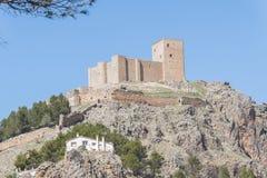 Segura de la Toppig bergskedja slott, Jaen, Spanien Arkivfoto