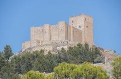 Segura de la Toppig bergskedja slott, Jaen, Spanien Arkivbilder