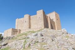 Segura de la Toppig bergskedja slott, Jaen, Spanien Arkivfoton