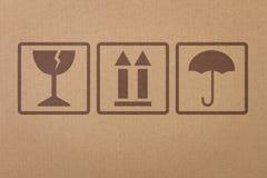 Segurança, ícones frágeis Fotografia de Stock Royalty Free