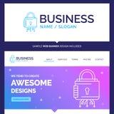 Segurança bonita da marca do conceito do negócio, cyber, fechamento, pro ilustração do vetor