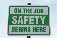 A segurança começa aqui Imagens de Stock