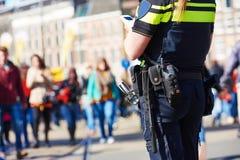 Segurança da cidade polícia na rua fotografia de stock
