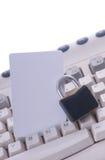 Segurança da compra do Internet Foto de Stock