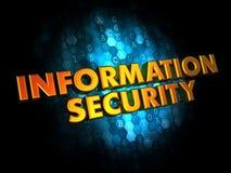 Segurança da informação no fundo de Digitas. Fotografia de Stock Royalty Free