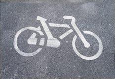 Segurança da pista da bicicleta Foto de Stock Royalty Free