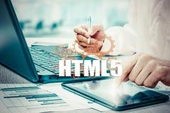 Segurança da tecnologia, do Internet e da rede HTML5 Imagem de Stock