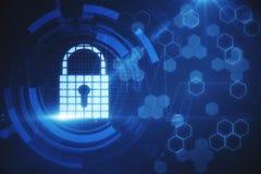 Segurança da Web e conceito da ciência foto de stock royalty free