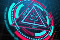 Segurança da Web e conceito do antivirus ilustração stock