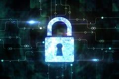 Segurança da Web e conceito do Cyberspace ilustração do vetor