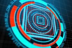 Segurança da Web e conceito do Cyberspace ilustração stock