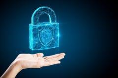 Segurança da Web e conceito do fechamento fotografia de stock