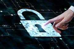 Segurança da Web e conceito do protetor Imagem de Stock