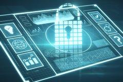 Segurança da Web e conceito dos dados imagens de stock