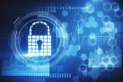 Segurança da Web e conceito da privacidade imagens de stock royalty free