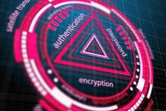 Segurança da Web e conceito da proteção ilustração do vetor