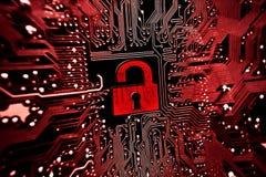 Segurança de computador Imagens de Stock Royalty Free