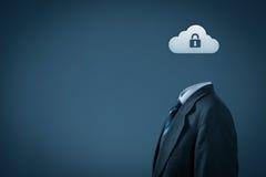Segurança de dados da nuvem Foto de Stock Royalty Free