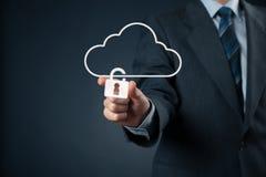Segurança de dados da nuvem Fotografia de Stock