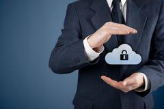 Segurança de dados de computação da nuvem Fotografia de Stock Royalty Free