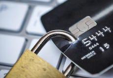 Segurança de dados do cartão de crédito imagens de stock royalty free