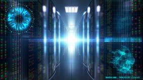 Segurança de nível elevado do conceito no centro de dados da nuvem ilustração royalty free