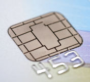 Segurança do cartão de banco fotografia de stock