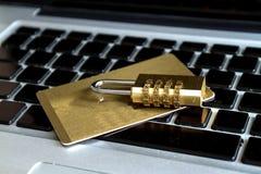 Segurança do cartão de crédito Fotos de Stock Royalty Free