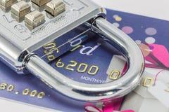 Segurança do cartão de crédito Fotografia de Stock Royalty Free