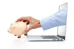 Segurança do crime do Cyber do computador Foto de Stock Royalty Free