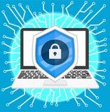 Segurança do Cyber imagens de stock royalty free