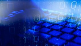Segurança do Cyber, código de computador de datilografia do homem vídeos de arquivo