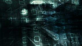 Segurança do Cyber, conceito futurista do papel de parede do movimento video estoque