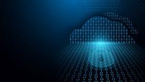 A segurança do Cyber e poderia proteção da rede de computação Tecnologia do cyber e conceito futuros do fundo do sistema de segur ilustração do vetor