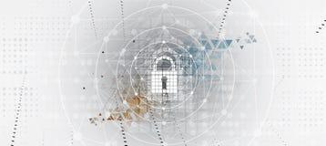 Segurança do Cyber e proteção da informação ou da rede Futuro técnico ilustração royalty free