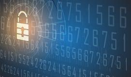 Segurança do Cyber e proteção da informação ou da rede Futuro técnico Foto de Stock