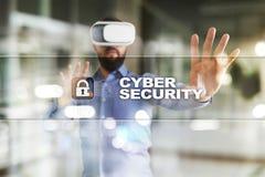 Segurança do Cyber, proteção de dados, segurança da informação e criptografia tecnologia do Internet e conceito do negócio imagens de stock royalty free