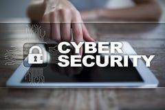 Segurança do Cyber, proteção de dados, segurança da informação Conceito do negócio da tecnologia ilustração do vetor